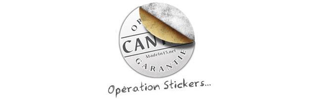 Petit retour sur l'Opération Stickers