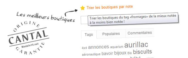 [Evolution du site] – Trier les boutiques par note