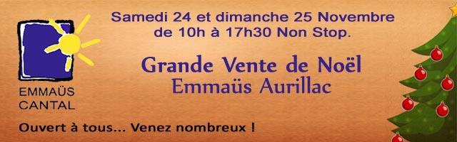 Grande Vente de Noël d'Emmaüs Cantal