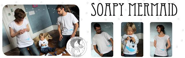 Soapy Mermaid : Vêtements coordonnés parents/enfants