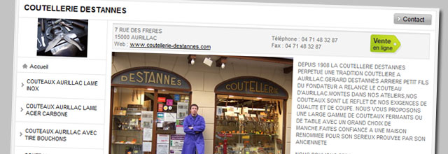 Coutellerie Destannes : Le couteau made in Aurillac