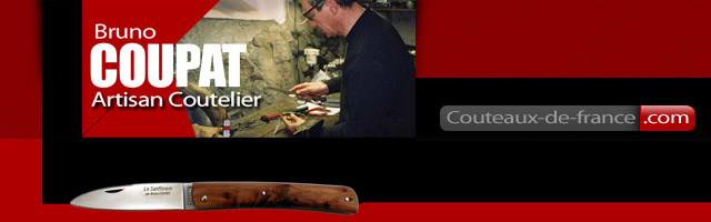 Bruno Coupat, artisan coutelier Sanflorain