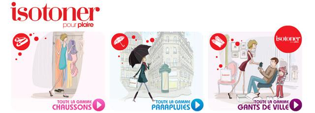 Isotoner : chaussons, gants, parapluies…