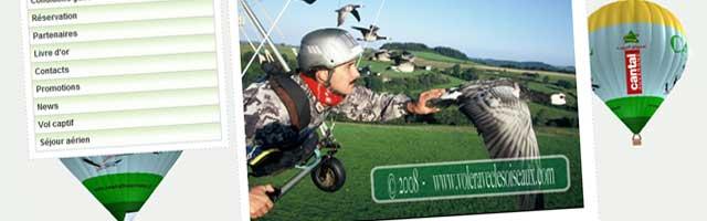 Voler avec les oiseaux dans le Cantal