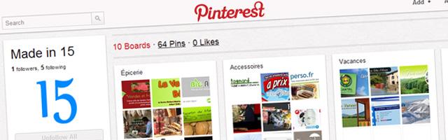 Madein15.net sur le nouveau réseau social Pinterest