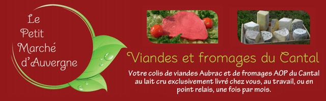 Colis de viandes et de fromages du Cantal