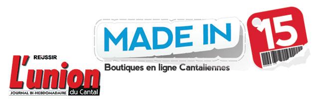Madein15.net dans L'Union du Cantal