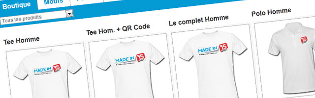 Shop Madein15.net : Les Tee-shirts Made in 15 !