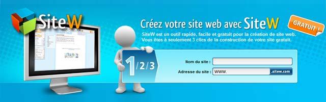 SiteW : Création de site internet gratuit et facile